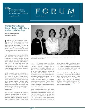 2006 Spring GSE&IS Forum newsletter - Graduate School of Education ...