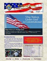 July-August 2010 Newsletter