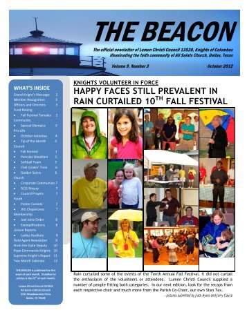 THE BEACON ? The Official Newsletter of Lumen Christi Council ...