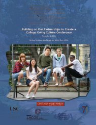 Building on Our Partnerships to Create a College - UCLA APEP