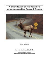 A Brief Review of the Scientific Literature on Elk, Roads, & Traffic