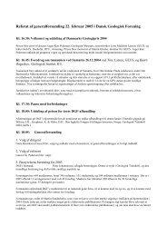 Dansk Geologisk Forening - Referat af Generalforsamling 2005