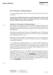 Krav til begrundelse for tildelingsbeslutningen Af - Kammeradvokaten