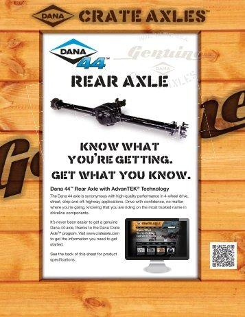 Dana 44 Rear Axle Sell Sheet - Spicer
