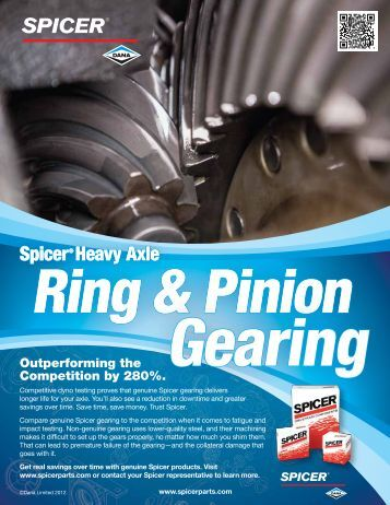 Spicer® Heavy Axle Spicer® Heavy Axle Spicer® Heavy Axle