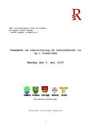 Temamøde om rekruttering af arbejdskraft nu og i fremtiden Mandag ...