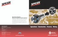 Spicer Wing Bearing Products for Agriculture, Construction, Forestry ...