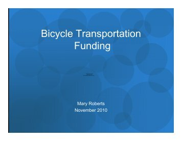 funding to build out the Bicycle Master Plan - Portland Transport