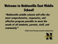 Welcome to Noblesville East Middle School! - Noblesville Schools