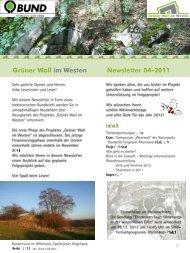 Newsletter 04-2011 (pdf) - Grüner Wall im Westen