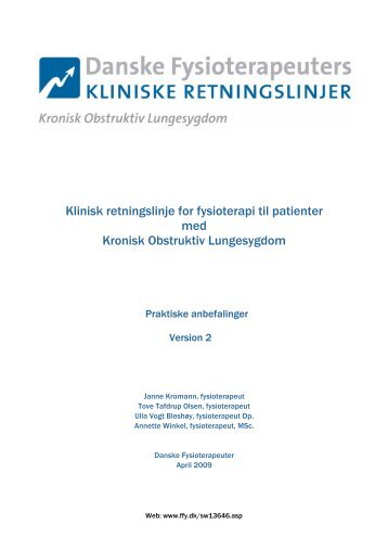 praktiske anbefalinger (version 2) - Danske Fysioterapeuter