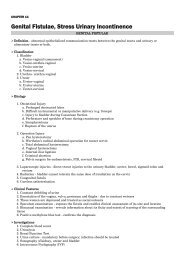 Genital Fistulae, Stress Urinary Incontinence - Obstetrics n ...