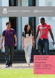 University of Limerick - Summer Schools in Irish Studies