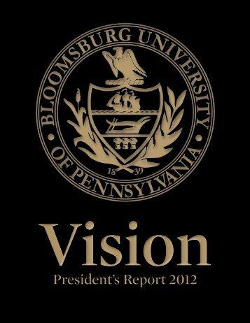 President's Report - Bloomsburg University