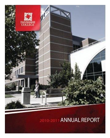ANNUAL REPORT - Fanshawe College