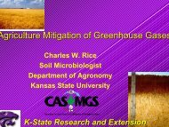 Agriculture Mitigation of Greenhouse Gases