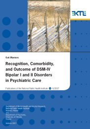Recognition, Comorbidity, and Outcome of DSM-IV Bipolar I ... - Helda