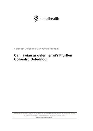Canllawiau ar gyfer llenwi'r Ffurflen Cofrestru ... - ARCHIVE: Defra