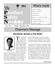 Product Safety Newsletter