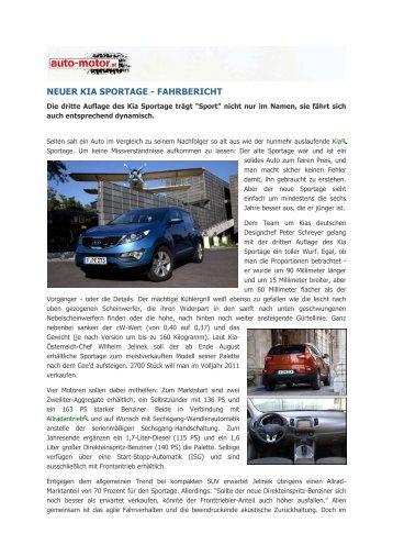 NEUER KIA SPORTAGE - FAHRBERICHT - Heim