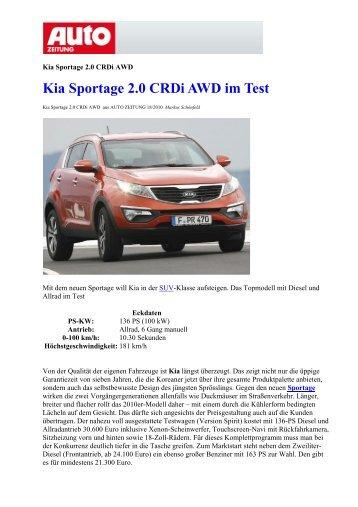 Kia Sportage 2.0 CRDi AWD im Test - Heim