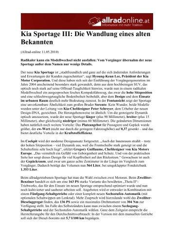 Kia Sportage 2010 - Report Allrad-online_2 - Heim