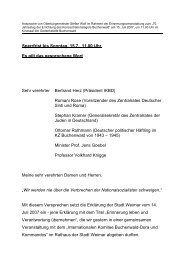 Ansprache von Oberbürgermeister Stefan Wolf im Rahmen ... - Weimar