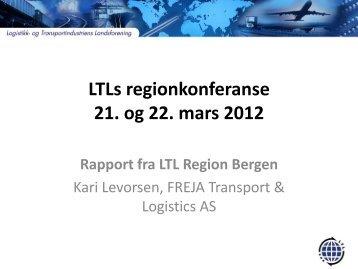 LTL Region Bergen - Logistikk
