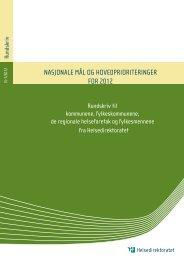 Nasjonale mål og prioriterte områder for 2012 - Helsedirektoratet
