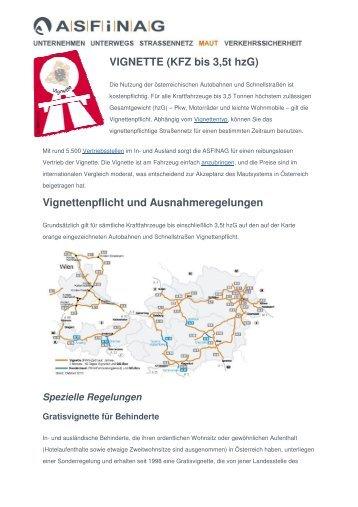 Vignetten Asfinag-Info 2011 - Heim