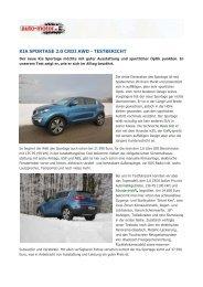 KIA SPORTAGE 2.0 CRDI AWD - TESTBERICHT - Heim