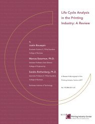 Life Cycle Analysis in the Printing Industry: A Review