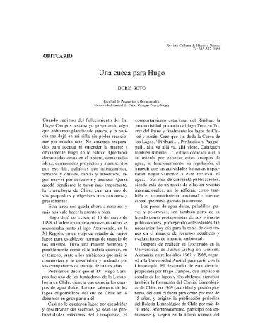 Artículo - Revista Chilena de Historia Natural