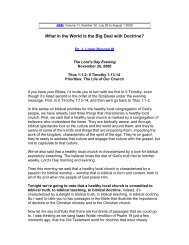 What in the World is the Big Deal with Doctrine - Third Millennium ...