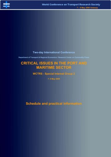 CRITICAL ISSUES IN THE PORT AND MARITIME SECTOR
