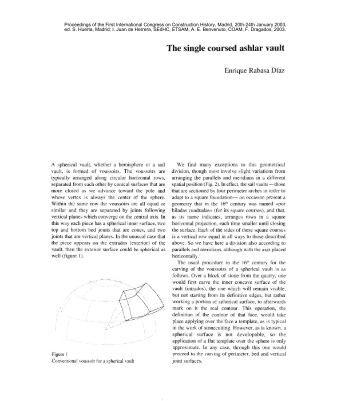 The single coursed ashlar vault