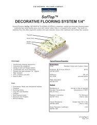 SofTop™ DECORATIVE FLOORING SYSTEM 1/4