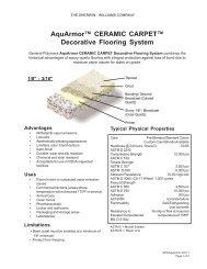 AquArmor™ CERAMIC CARPET™ Decorative ... - General Polymers