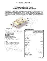 CERAMIC CARPET™ #554 Decorative Quartz ... - General Polymers