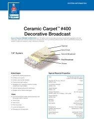 Ceramic Carpet™ #400 Decorative Broadcast - General Polymers