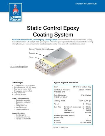 static Control epoxy Coating system - General Polymers