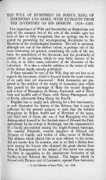 r THE WILL OF HUMPHREY DE BOHUN, EARL OE HEREFORD ...