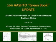 AASHTO Subcommittee on Design Annual Meeting Portland, Maine