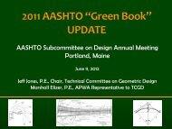 AASHTO Subcommittee on Design Annual Meeting Portland, Maine
