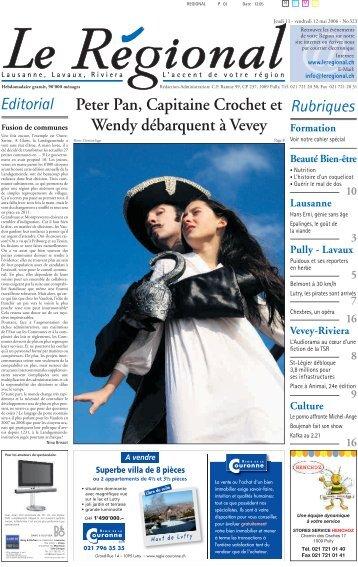 Peter Pan, Capitaine Crochet et Wendy débarquent à Vevey
