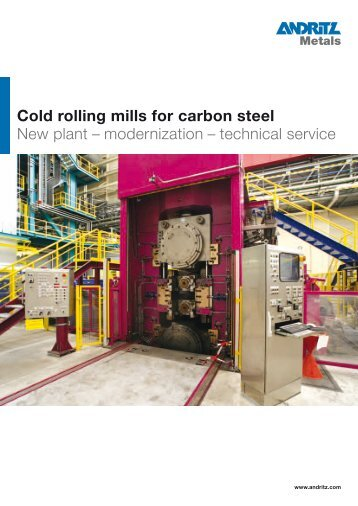Cold rolling mills for carbon steel New plant – modernization ...