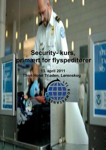 Security- kurs, primært for flyspeditører
