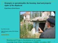 COHRE Arraiza Property Restitution in Kosovo