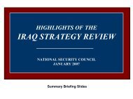 Highlights of the Iraq Strategy Review - MERLN