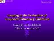 Imaging in the Evaluation of Suspected Pulmonary Embolism